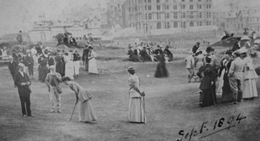 Ladies Putting Club 1894 on Himalayas with Old Tom Morris